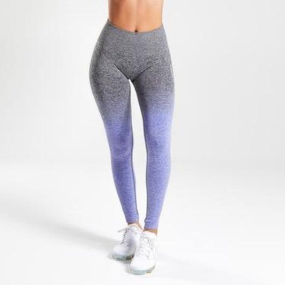gymshark seamless ombre Purple Gray leggings M